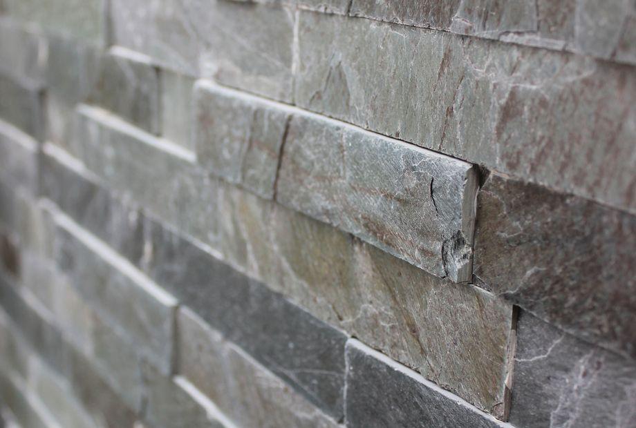 Naturstein Wandverkleidung aus Schiefer, Stein Schwarz