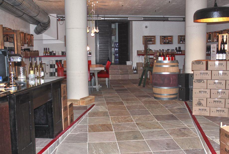 Weinkeller Boden aus Sandstein Modak, Stein Schwarz