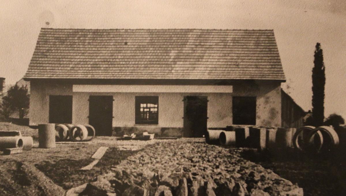 Ursprüngliches Betriebsgebäude von Stein Schwarz